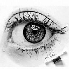 Teared eye