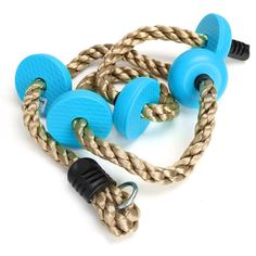 antWalking Children Physical Training Fitness Swing Climbing Rope Plastic Knot PE Rope Kids Sports Toys Combo Set (Blue). Plastic knot and PE climbing rope set, suitable for children aged 3-12 years and weigh less than 132 lbs. Perfect for children's balance, skills and strength training. Great toy for your kid to play and relax. Rope material: PE/Diameter: 26mm/0.09inch/Length: 2m/6.56ft. 1 x Children Climbing Rope and Max load: 60kg/132.3 lb.