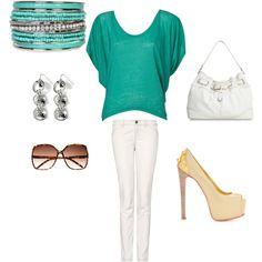 white skinny jeans!!