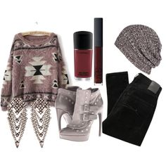 Sweater Weather Is The Best Kind Of Weather by spiritofcarnage on Polyvore featuring polyvore, fashion, style, Nobody Denim, Alexander McQueen, DANNIJO, AllSaints, NARS Cosmetics, clothing and sweater