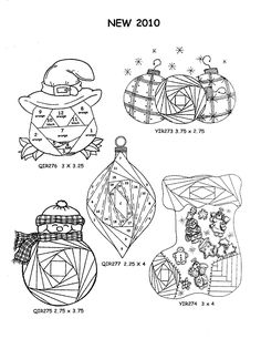 NEW 2010 Christmas and Thanksgiving Iris Folding Rubber Stamps Pg 31 Discount