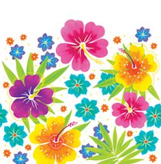 Floral Luau Plastic Tablecloths – 54 x 108 Inches   My Paper Shop