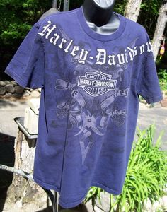 Mens Harley Davidson T shirt size LARGE Short Sleeve NH BLUE ANNAPOLIS MD