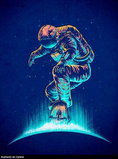 Cosmonaut wallpaper by - - Free on ZEDGE™ Galaxy Wallpaper, Wallpaper Backgrounds, Iphone Wallpapers, Illusion Kunst, Tableau Pop Art, Astronaut Wallpaper, Plakat Design, Space Illustration, Grafik Design