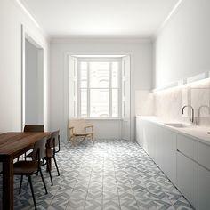 Decorative encaustic tile floor   Kitchen flooring ideas - 10 of the best   housetohome.co.uk