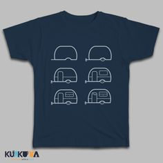 Caravan draw it yourself pattern. Denim colour T-shirt