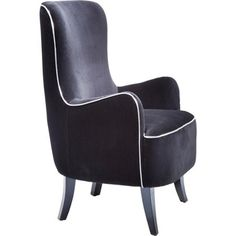 Fotel Boudoir Black, kare design