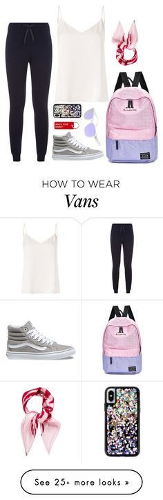"""Student Airmode"" by max-the-glitter-lord on Polyvore featuring Moncler, L'Agence, Various Projects, Vans, Christian Dior, Michael Kors and airportstyle"