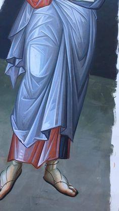 Byzantine Art, Byzantine Icons, Religious Icons, Religious Art, Icon Clothing, Male Icon, Catholic Art, Orthodox Icons, Painting Process