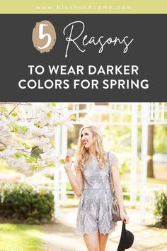 Spring is just around the corner! What if I were to tell you that you should wear darker colors this spring? I know it sounds like crazy talk but darker colors are perfect for spring (and fall for that matter)! Here are 5 reasons to wear darker colors in the spring. You'll change your mind about them! I'm sure of it! #fashionista #blackromper #springoutfit