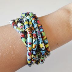 Duck Tape Beads DIY -Dream a Little Bigger made with straws and duct tape pretty simple idea: