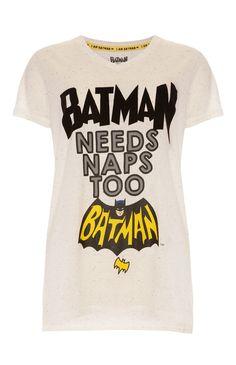 """Primark - Weißes """"Batman Naps"""" T-Shirt"""