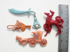 Vintage Celluloid Plastic Horse Baggy Magician Sword Dog Brooch Pin Lot 4 | eBay