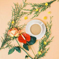 ☕️ com leite  bom diaaaa!!  #florigrafias #apaixonadosporcafé #cafécominstagram #café #cafezin #communityfirst #onthetable