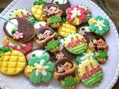 Luau Cookies by BakeorEatSweets on Etsy