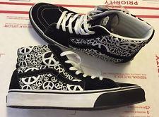 948d83a59c2c10 Rare VANS SK8-HI Peace Black White Suede Men Sz 10.5 Rare Vans