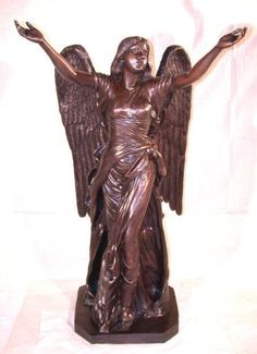 Celestine Angel Life-Size Bronze Sculpture