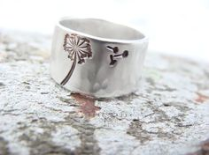 Personalised Sterling Silver Ring  Large by DinoDaisy on Etsy