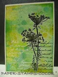 PAPER - STAMPS - COLOR: Beautiful foliage stamp!