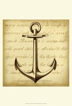 Sepia Captain's Anchor Art Print