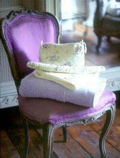 vintage purple chair
