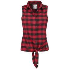 Checkered Sleeveless Shirt