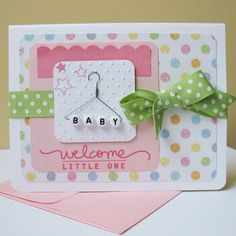 handmade baby cards - Google Search baby beads on hanger