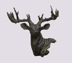 Hjort Gjutjärn 40cm Grön-brons