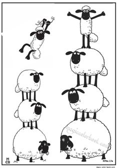 Shaun the sheep by kite coloring pages for kids printable free