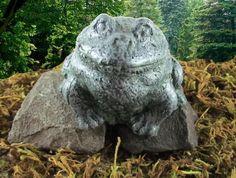 Green Concrete Frog Garden Statue Stone Art Handmade in Wren Ohio | eBay $8