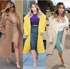 Kim style, love the coats