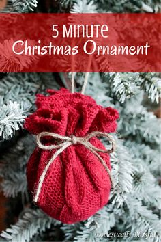 5 Minute Christmas Ornament -- Have an old sweater you no longer wear?