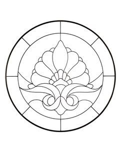 simple stained glass patterns printable | Free Victorian Patterns For Stained Glass