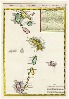 Poster Print Wall Art Print entitled Map of West Indies Old Maps, Antique Maps, Wall Art Prints, Poster Prints, Map Compass, Dresser, Country Maps, Map Design, West Indies