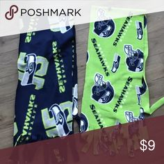 2 LOT Seattle Seahawks Official NFL Big Logo Scarf 2 LOT Seattle Seahawks Official NFL Big Logo Scarf Winter Warm Soft Green Blue. Super stylish and comfy. Excellent condition. From non-smoking, non-pet home.  💋Add to bundle to save on shipping costs! Don't forget to add any two things in my closet and receive an extra 10% off! no trades. Vintage Accessories Scarves & Wraps