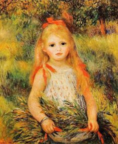 Pierre Auguste Renoir Girl With Sheaf Of Corn painting is shipped worldwide,including stretched canvas and framed art.This Pierre Auguste Renoir Girl With Sheaf Of Corn painting is available at custom size. Pierre Auguste Renoir, Edouard Manet, Renoir Paintings, Impressionist Paintings, Oil Paintings, Camille Pissarro, August Renoir, Painting Prints, Art Prints