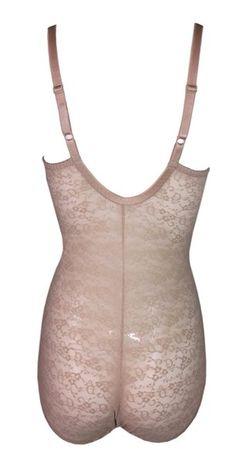 2633d4157c Rare 1990 s Christian Dior Nude Mesh Lace Monogram Bodysuit Shaper Top
