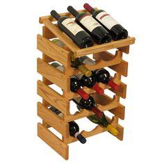 Wooden Mallet Dakota 15 Bottle Floor Wine Rack Finish: Light Oak