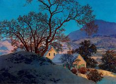 Maxfield Parrish - Early Morning, First Snow