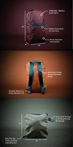 The durable packaway backpack - Made in Canada by YNOT - from North America's toughest materials. | Crowdfunding es una manera democrática de apoyar las necesidades de recaudación de fondos de tu comunidad. Haz una contribución hoy.