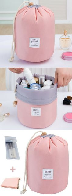a086a9cd637 Amazon.com  Tancendes Waterproof Travel Bag Makeup bag Cosmetic Bag Travel  Kit Organizer Bathroom Storage Cosmetic Bag Carry Case Toiletry Bag ...