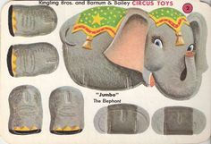 Vintage Ringling Brothers punch-out elephant toy.  They don't make many things like this anymore.