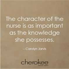 Or he, but a lot of people sadly I question them going into the field of nursing. Some seem to be just after the $ :0(