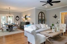 Check out this newly renovated living room decorated with French country accessories on HGTV.com.