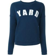 Zoe Karssen Yard Print Sweatshirt ($99) ❤ liked on Polyvore featuring tops, hoodies, sweatshirts, blue, zoe karssen, print sweatshirt, blue top, print top and blue print top