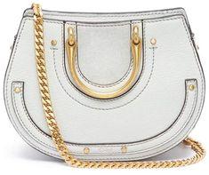 Chloé 'Pixie' mini bracelet handle leather crossbody saddle bag #Chior#ShopStyle #MyShopStyle click link for more information