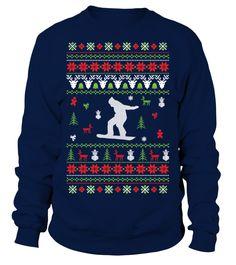 Snowboarding Christmas Jumper  #gift #idea #shirt #image #funny #campingshirt #new