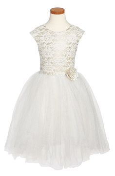 Halabaloo Lace & Glitter Party Dress (Toddler Girls, Little Girls & Big Girls) available at #Nordstrom