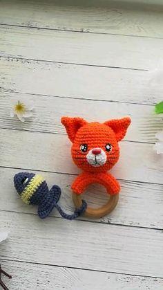 Chat Crochet, Crochet Baby Toys, Crochet Faces, Crochet Patterns Amigurumi, Knit Or Crochet, Crochet Dolls, Baby Knitting, Octopus Crochet Pattern, Crochet Animal Patterns
