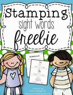 Stamping Sight Words